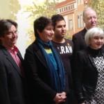 Gruppenfoto mit v.l.n.r. Konrad Böhnlein, Birgit Meyreis, Ferhat Yalcinkaya, Klaus Meurer und Elisabeth Schroedter