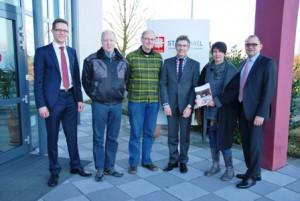 Birgit Meyreis, Klaus Meurer, Martin Schmitt und die Geschäftsführung der St.Raphael CAB trafen sich zum informellen Austausch
